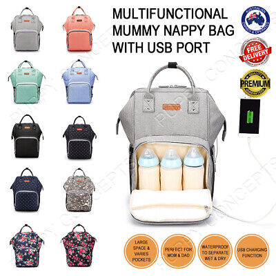 Multifunctional Waterproof Large Mummy Nappy Diaper Bag Backpack Baby Changing