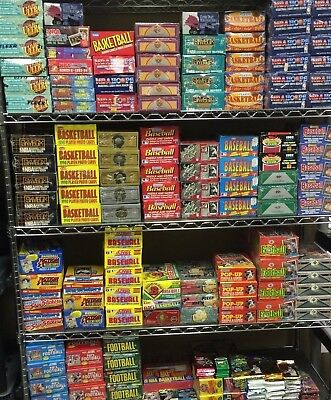 Huge Lot of 50+ Unopened Old Vintage Baseball Cards in (5) Wax Rack Packs