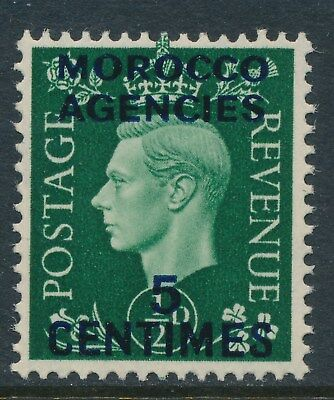 1937 MOROCCO AGENCIES 5c on ½d GREEN FRENCH OVPT FINE MINT MNH SG230