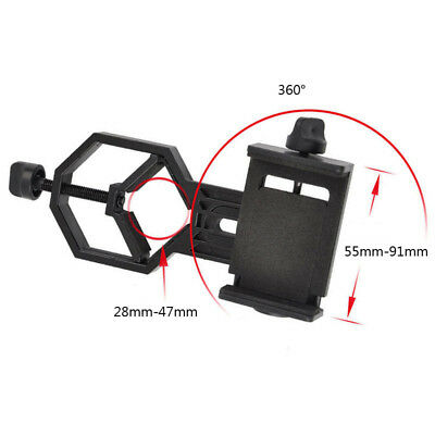 Smartphone Cell Phone Adapter Holder Mount Telescope Spotting Scope 55-91mm