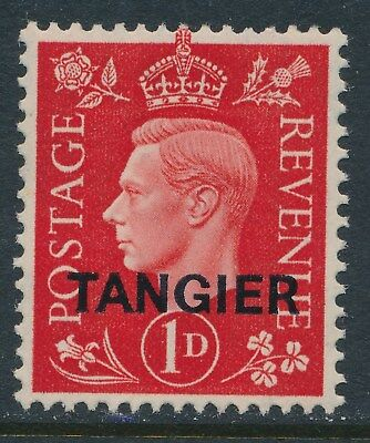 1937 MOROCCO AGENCIES 1d SCARLET TANGIER OVERPRINT FINE MINT MNH SG246