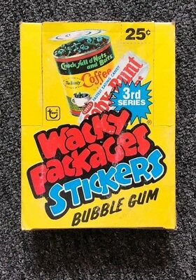 1980 Topps Wacky Packages VERY RARE 3rd Series FULL BOX with 36 PACKS !