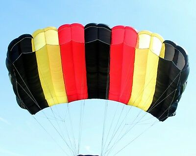 XL Cloud - 270 sq ft skydiving parachute canopy 7 cell F111 + risers .. complete