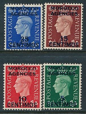 1937 Morocco Agencies Spanish Ovpt Part Set Of 4 Fine Mint Mnh Sg165-Sg168