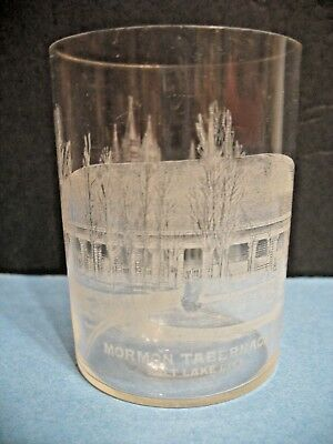 Etched Drink Glass - Mormon Tabernacle And Temple