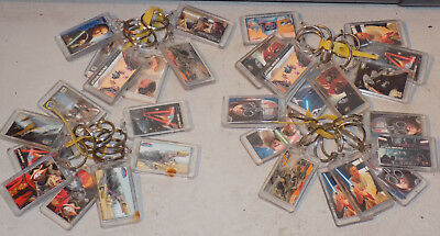 Rare Vintage New Lot Of 31 Star Wars Episode 1 Movie Picture Keychains No Reserv