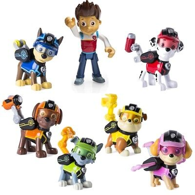 Paw Patrol Dogs Toy 10cm Action Figures Figurine Rescue Team Pack 7pcs Playset