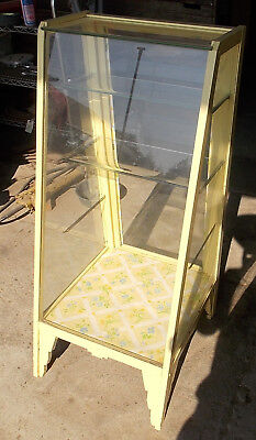 ANTIQUE DISPLAY CABINET maybe sales display for store dental doctor 42 tall 19 w