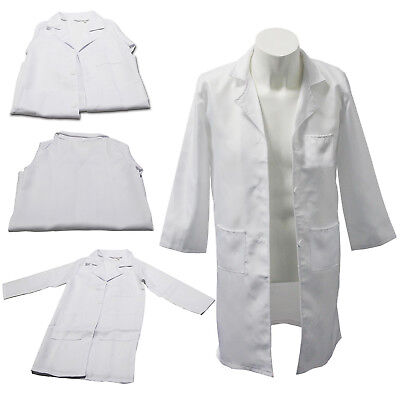 Kids Boys White Lab Coat Mask Doctor Nurse Hospital Fancy Dress Uniform Costume