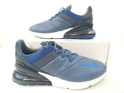 timeless design 9a6b2 2b94c Nike Mens Air Max 270 Premium Leather Diffused Blue Gym Blue AO8283-400  Size 10