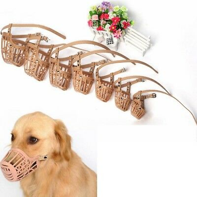 Plastic Dogs Muzzle Basket Design Anti-bite Adjusting Strap Mask Wholesale 7Size