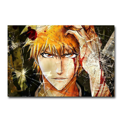 ZA226 Bleach Kurosaki Ichigo Hollow Mask Anime Poster Hot 40x27 36x24 18inch