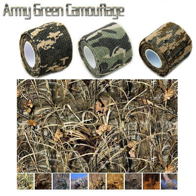 2pcs Hunting Army Tape Tool Camo Camouflage Stealth 5cm x 4.5m Waterproof Tape