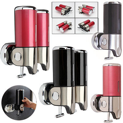 500/1000ML for Lockable Soap&Shampoo Dispenser Lotion Pump Action Wall Mounted