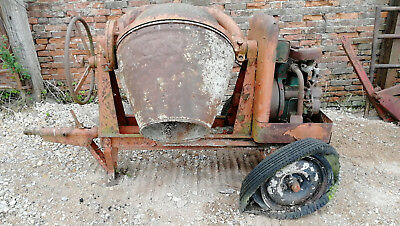 Diesel cement mixer Petter engine for restoration Diesel concrete mixer