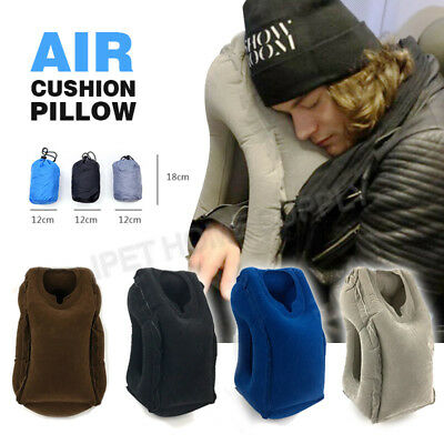 Inflatable Travel Pillow Ergonomic and Portable for Head Neck Rest Airplanes Bus