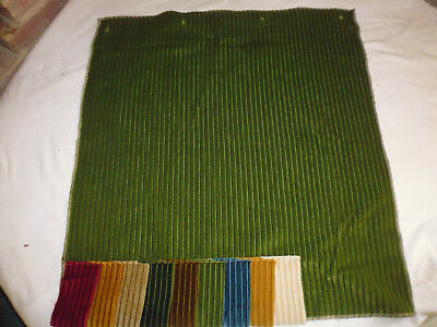 Ancien tissu ameublement velours vert french fabric style Louis XIII 61x61 cm M