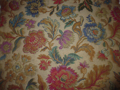 Ancien tissu ameublement tapisserie french fabric style Louis XIII 61x61 cm O