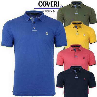 Polo Uomo Manica Corta 100 % Cotone Jersey COVERI MOVING 5 Colori M L XL XXL 3XL