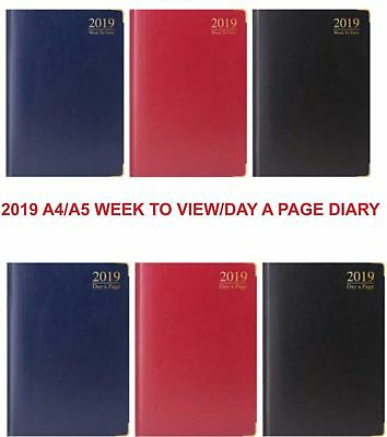 2019 A4/A5/A6 Week to view Day to a page Hard case Diary Office SChool Planner