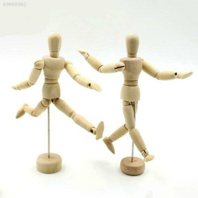 Wooden Manikin Mannequin 12Joint Doll Polish Articulated Limbs Display