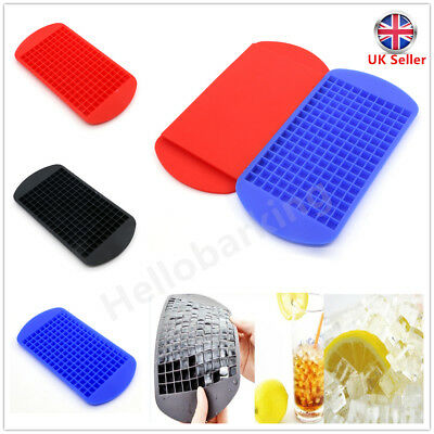 160 Ice Cube Tray Small Silicone Mold Mould Mini Maker Bar Home Reusable Cool UK