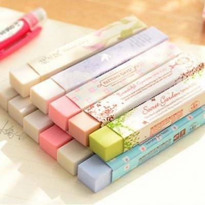 2pcs Cute Kawaii Cartoon Flower Rubber Eraser Lovely Colored Eraser For Kids