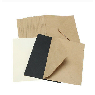 20Pcs/Set Postcard Invitation Card Letter Envelopes Kraft Paper Classical DIY