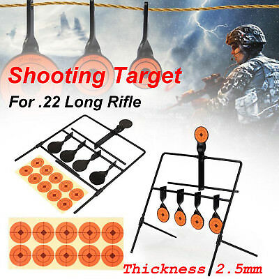 Metal Resetting Shooting 5 Targets Set Sighting Practice Hunting Air Rifle Gun
