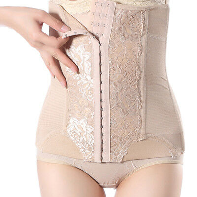 Women Steel Boned Waist Trainer Cincher Corset Tummy Control Shapewear Plus Size