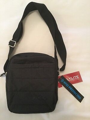 FLYLITE Gobi RFID Black Travel Satchel - New and Unused with Tag intact