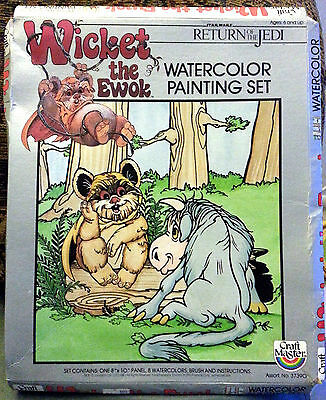 Star Wars Wicket the Ewok Watercolor Painting Set 1983 Unopened