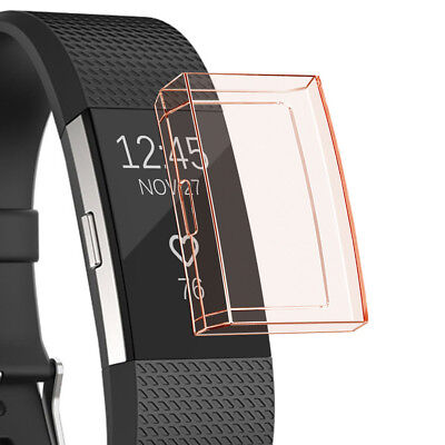 Ultra-thin Soft TPU Protection Silicone Case Cover For Fitbit Charge 2