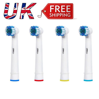 4 Heads For Braun Oral-B Vitality 3D White Rechargeable Electric Toothbrush