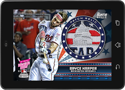 Topps BUNT Bryce Harper RELIC Home Run Derby 2018 [DIGITAL CARD]