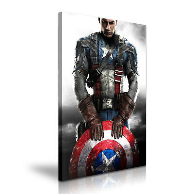 Captain America Avengers Stretched Canvas ~ More Size