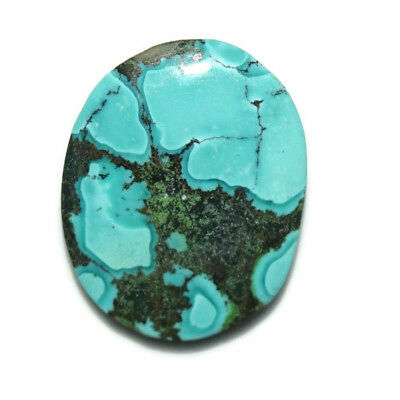 16 Ct Natural Tibet Turquise Oval Shape Cabochon Loose Gemstone HJ_43_89