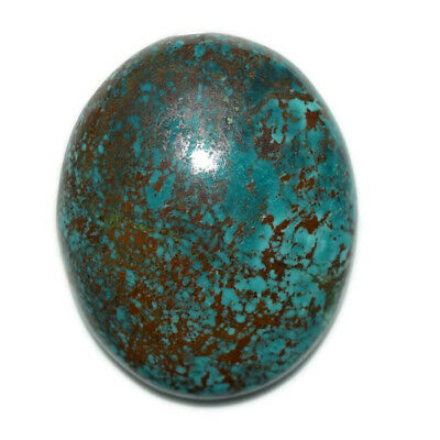 71.5 Ct Natural Tibet Turquise Oval Shape Cabochon Loose Gemstone HJ_43_58