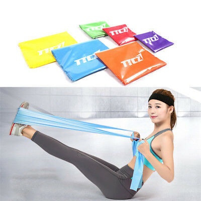 1.5m Elastic Yoga Pilates Rubber Stretch Resistance Exercise Fitness Band Beltp