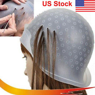 Hair Colouring Tipping Reusable Highlighting Dye Cap Hairdressing Frosting Hat