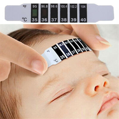 Baby Kids Forehead Strip Head Thermometer Fever Body Temperature Adult Test