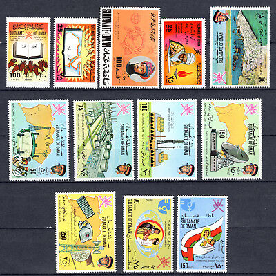 Oman 1974-1975 Sets Selection Of Mnh Stamps Unmounted Mint