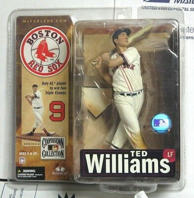 McFARLANE JOE DIMAGGIO and TED WILLIAMS FIGURE LOT COOPERSTOWN COLLECTION