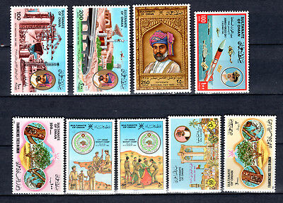 Oman 1985-1986 Sets Selection Of Mnh Stamps Unmounted Mint