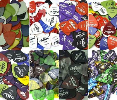 Lots of 100pcs Heavy 1.5mm Alice Guitar Picks Plectrums For Electric Guitar Bass