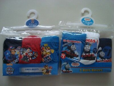 Kids Children's Underwear  Pants/Briefs Thomas Tank+Paw Patrol 6 Pairs 18-24 Mth