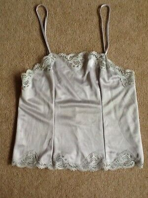Vintage Charnos camisole top size 12 pale grey