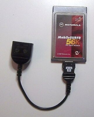 Motorola mobilesufr 56k pc card modem with Dongle PCMCIA Card