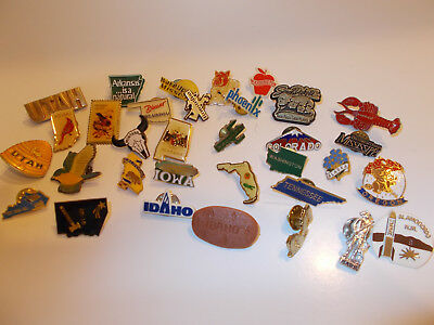 Lot of 33- State Pin Backs