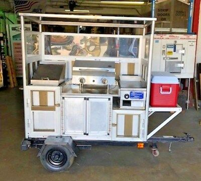 Hot Dog Cart Vending Concession Stand Trailer